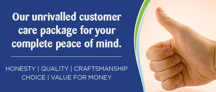 Our unrivalled customer care package for your complete peace of mind. • Proven British design, proudly made in South Africa. • Over 18 years experience in manufacturing and customer service. • Over 40,000 satisfied customers to date. • Built on a belief in traditional values. • We treat our customers with honesty and professionalism.